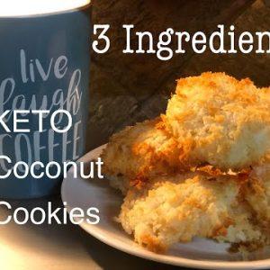 *Best* Keto Coconut Cookie Recipe !! 3 INGREDIENTS