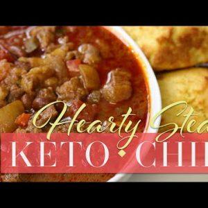 Hearty Keto Steak Chili