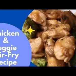 Chicken & Veggie Stir-Fry Recipe | Low Carb Recipes 😋 Keto Diet 🥗 #ketorecipes #shorts