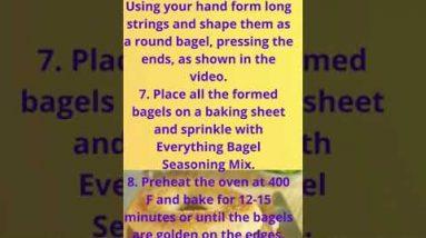 Keto Bagels Almond Flour Recipe | Low Carb Keto Bagels Easy Recipes #ketobagelsalmoundflour #shorts