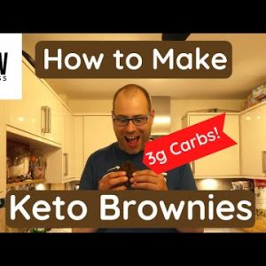 The Best Keto Brownie Recipe. Low Carb only 3g of Carbs!