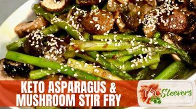 Keto Asparagus Mushroom Stir Fry Recipe