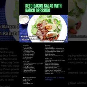 🥑 Low Carb Recipes 🔥 BEST Keto Bacon Salad with Ranch Dressing 😍 Keto Diet Recipes for Beginners✅