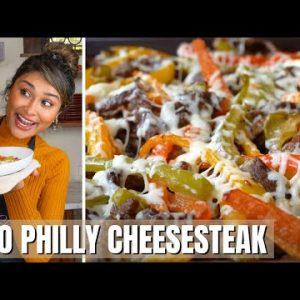 PHLLY CHEESESTEAK ONE PAN! How to Make Keto Philly Cheesesteak Recipe