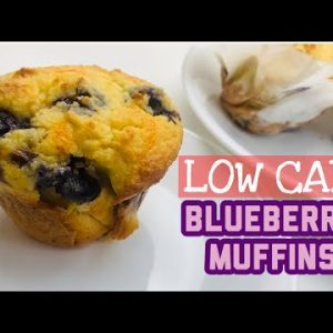 LC Vlog 43: Easy Blueberry Low Carb Keto Muffins   Best Keto Blueberry Muffins   Soft & Moist
