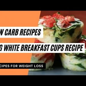 Egg White Breakfast Cups Recipe | Low Carb Recipes 😋 Keto Meals Recipes 👍 Keto Diet 🥗 #ketorecipes
