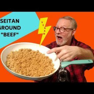 """KETO SEITAN GROUND """"BEEF"""": DELICIOUS, HIGH PROTEIN VEGAN CRUMBLES"""