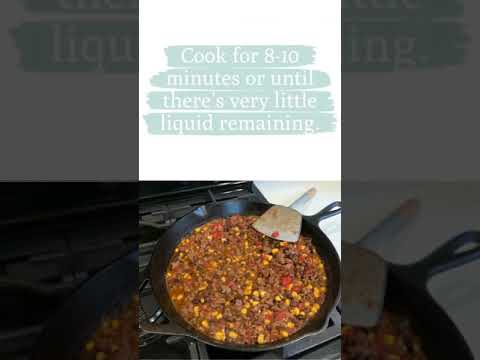 Tex Mex Ground Beef And Rice Skillet #shorts keto low carb recipes