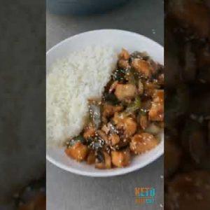 Honey sesame chicken stir fry 🤤 Low Carb Recipes 😋 – Keto Meals Recipes 👍 – Keto Diet 🥗  #shorts