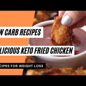 Delicious Keto Fried Chicken 👍 Low Carb Recipes 😋 Keto Meals Recipes 👍 Keto Diet 🥗 #ketorecipes
