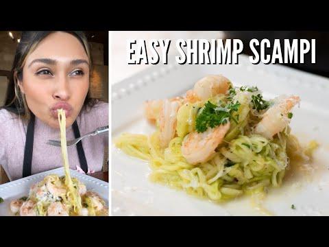 EASY KETO SHRIMP SCAMPI! How to make Keto Shrimp Scampi!