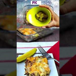 Easy Keto Low Carb Bacon Cheeseburger Casserole 🔥🔥 | Keto Meals! #short