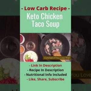 Ketogenic Recipes | Keto Chicken Taco Soup Diet Meal | Low Carb Weight Loss | #ketodiet #shorts 11