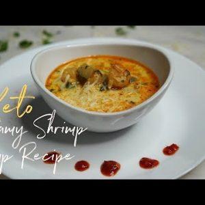 Creamy Shrimp Soup Recipe   Keto low carb with Macro count