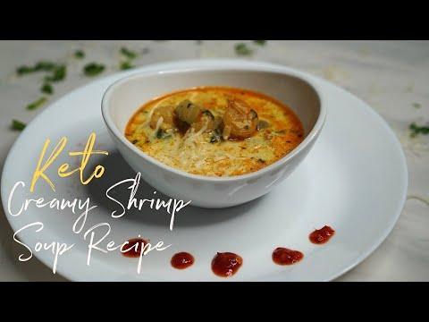 Creamy Shrimp Soup Recipe | Keto low carb with Macro count