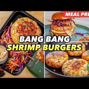 Meal Prep – Low Carb Bang Bang Shrimp Burgers Recipe