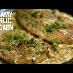 Creamy Garlic Chicken Breast Recipe || simple chicken recipes || Healthy Chicken Breast Recipes