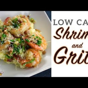 Low Carb SHRIMP and GRITS – EASY Weeknight Keto Recipe!