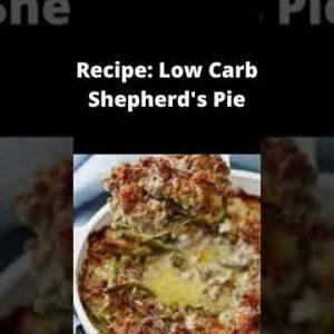 Recipe Keto Low Carb Shepherd's Pie || Keto Meal Recipes | Healthy Keto Foods Diet || #shorts
