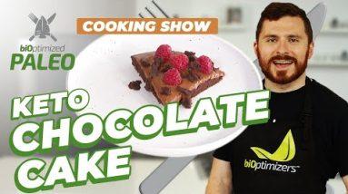 Low Carb CHOCOLATE CAKE  – The BEST Keto Chocolate Cake Recipe! / biOptimized Paleo