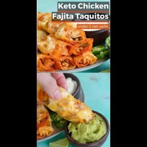 Keto Chicken Fajita Taquitos | #Shorts