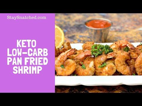 Keto Low Carb Breaded Fried Shrimp