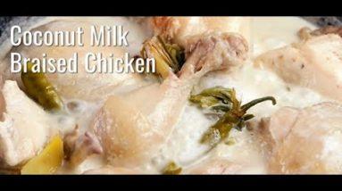 Ketogenic Kitchen – Keto Coconut Milk Braised Chicken Recipe #keto #shorts