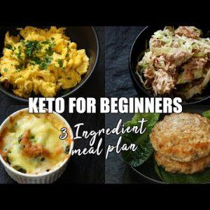 Keto for Beginners – 3 Ingredient Keto Meal Plan | How to start Keto | Free Keto Meal Plan