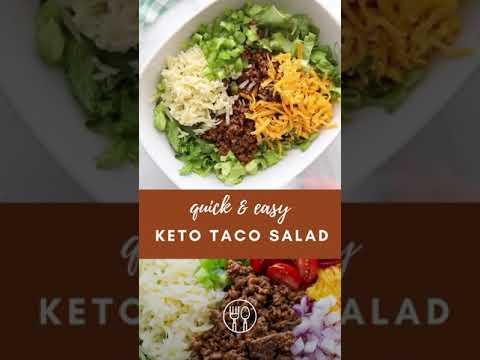 Keto/Low Carb Taco Salad #shorts