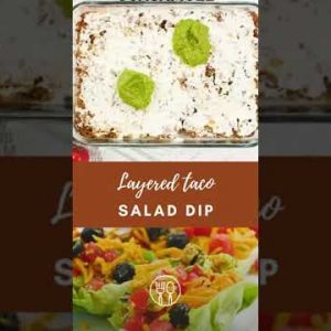 Taco Dip with Meat (Keto, Low Carb) #shorts