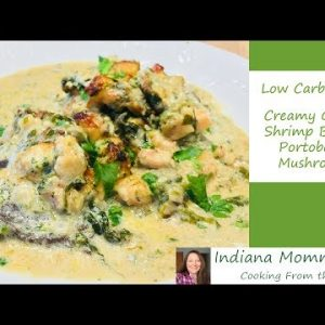 Creamy Garlic Shrimp Baked Portobello Mushrooms – Low Carb and Keto Recipe