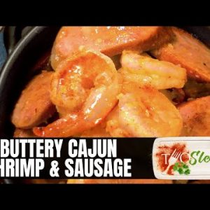 Buttery Cajun Shrimp and Sausage Recipe   Easy Low Carb Dinner