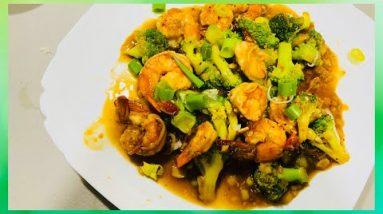 Easy Stir Fried Broccoli with Shrimp   Keto Diet    Low-carb Recipe    HomeFood LIFE