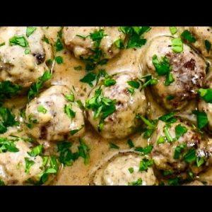 "Keto Recipe – Swedish Meatballs A ""Creamy & Meaty"" Low-Carb Ground Beef Dish"